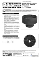 Instruction Manual for Sealey Cv007 Groove Axle Nut Socket With 6 Studs - Man/benz 3/4