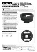 Instruction Manual for Sealey Cv010 Axle Nut Socket For Bpw 6.5-9 Tonne Roller Bearings 3/4
