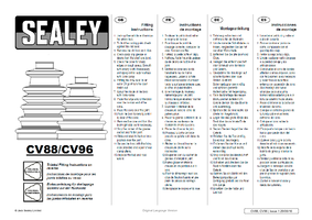 Instruction Manual for Sealey Cv88 Universal Stretch Cvj Boot 80-120mm
