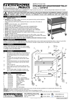Instruction Manual for Sealey CX101D Trolley 2-Level Extra Heavy-Duty with Lockable Drawer