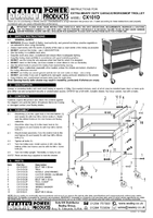 Parts List for Sealey CX101D Trolley 2-Level Extra Heavy-Duty with Lockable Drawer