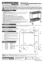 Instruction Manual for Sealey CX102 Trolley 2-Level Extra Heavy-Duty