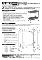 Parts List for Sealey CX102 Trolley 2-Level Extra Heavy-Duty