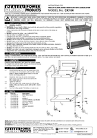 Instruction Manual for Sealey CX104 Trolley 2-Level Extra Heavy-Duty with Lockable Top