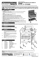 Instruction Manual for Sealey CX1042D Trolley 2-Level Extra Heavy-Duty with Lockable Top & 2 Drawers