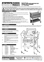 Parts List for Sealey CX1042D Trolley 2-Level Extra Heavy-Duty with Lockable Top & 2 Drawers