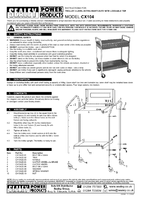 Parts List for Sealey CX104 Trolley 2-Level Extra Heavy-Duty with Lockable Top