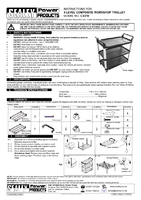 Instruction Manual for Sealey Cx310 3-level Composite Workshop Trolley