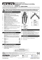 Instruction Manual for Sealey Dg03 Drum Grab 3-leg 360kg Capacity