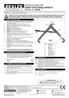Instruction Manual for Sealey Dg05 Drum Tongs 500kg Capacity