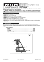 Instruction Manual for Sealey Dg06 Gator Grip Forklift Drum Grab 400kg Capacity