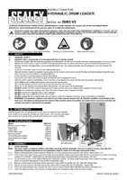 Instruction Manual for Sealey DH03 Hydraulic Drum Truck & Van Loader 205ltr
