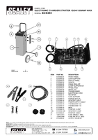 Parts List for Sealey Ecs350 Electronic Charger Starter 60/350a 12/24v
