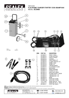 Parts List for Sealey Ecs400 Electronic Charger Starter 75/400a 12/24v