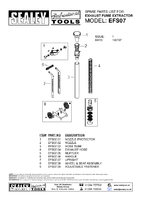 Parts List for Sealey EFS07 Exhaust Fume Extractor