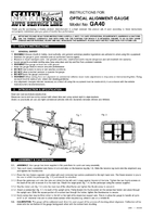 Instruction Manual for Sealey GA40 Optical Wheel Alignment Gauge