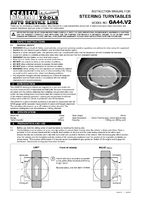 Instruction Manual for Sealey GA44 Steering Turntables Pair