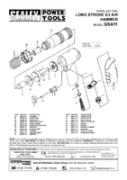 Parts List for Sealey GSA11 Air Hammer Kit Long Stroke