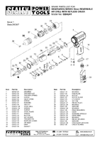 Parts List for Sealey GSA241 10mm Reversible Air Drill with Keyless Chuck