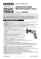 Instruction Manual for Sealey Gsa722 Air Polisher 75mm Mini