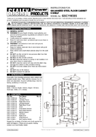 Instruction Manual for Sealey Gsc110385 Galvanized Steel Floor Cabinet 5 Shelf Extra-wide