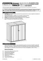 Instruction Manual for Sealey Gss150815 Galvanized Steel Shed 1.5 X 0.8 X 1.5mtr