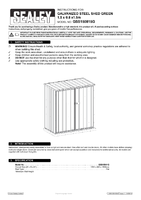 Instruction Manual for Sealey Gss150815g Galvanized Steel Shed Green 1.5 X 0.8 X 1.5mtr
