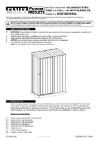 Instruction Manual for Sealey Gss150819sl Galvanized Steel Shed 1.5 X 0.8 X 1.9mtr Sliding Door