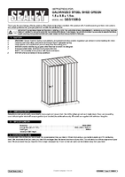 Instruction Manual for Sealey Gss1508g Galvanized Steel Shed Green 1.5 X 0.8 X 1.9mtr