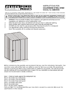 Instruction Manual for Sealey Gss1515 Galvanized Steel Shed 1.5 X 1.5 X 1.9mtr