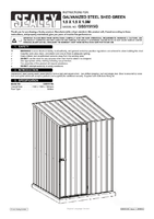 Instruction Manual for Sealey Gss1515g Galvanized Steel Shed Green 1.5 X 1.5 X 1.9mtr