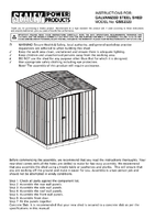 Instruction Manual for Sealey Gss2323 Galvanized Steel Shed 2.3 X 2.3 X 1.9mtr