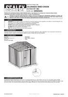 Instruction Manual for Sealey Gss2323g Galvanized Steel Shed Green 2.3 X 2.3 X 1.9mtr