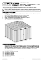 Instruction Manual for Sealey Gss3030 Galvanized Steel Shed 3 X 3 X 2.1mtr