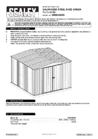 Instruction Manual for Sealey Gss3030g Galvanized Steel Shed Green 3 X 3 X 2.1mtr