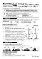 Instruction Manual for Sealey HBS97 Headlamp Beam Setter with Rails - VOSA Approved