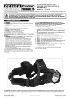 Instruction Manual for Sealey Ht105led Cordless Head Torch Cree Led 3w Rechargeable