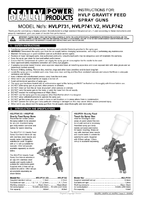 Instruction Manual for Sealey HVLP731 Hvlp Gravity Feed Touch-up Spray Gun 0.8mm Set-up