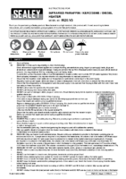 Instruction Manual for Sealey IR20 Infrared Paraffin, Kerosene & Diesel Heater 20kw 230v