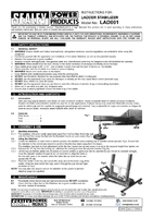 Instruction Manual for Sealey LAD001 Ladder Stabilizer