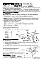 Instruction Manual for Sealey LAD002 Ladder Stand-Off