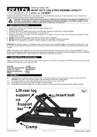 Instruction Manual for Sealey Lc300st Heavy-duty Log Stand 230mm Capacity