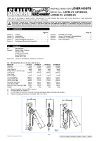 Instruction Manual for Sealey LH3000 Lever Hoist Steel 3000kg