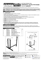 Instruction Manual for Sealey Ls520hst Horizontal Log Splitter Stand