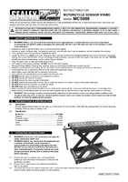 Instruction Manual for Sealey MC5908 Scissor Stand for Motorcycles 450kg