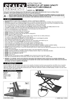 Instruction Manual for Sealey Mc680A Motorcycle Lift 680kg Capacity Heavy-duty Air/hydraulic