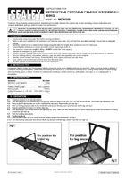 Instruction Manual for Sealey Mcw360 Motorcycle Portable Folding Workbench 360kg Capacity