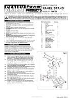 Instruction Manual for Sealey Mk59 Commercial Panel Stand - Door, Wing, Bonnet & Bumper