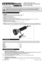 Instruction Manual for Sealey Ml3612wp 3 X 1w Led Lead Lamp 12v With 5mtr Cable