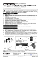 Instruction Manual for Sealey Ms005 Motorcycle Chain Alignment Tool